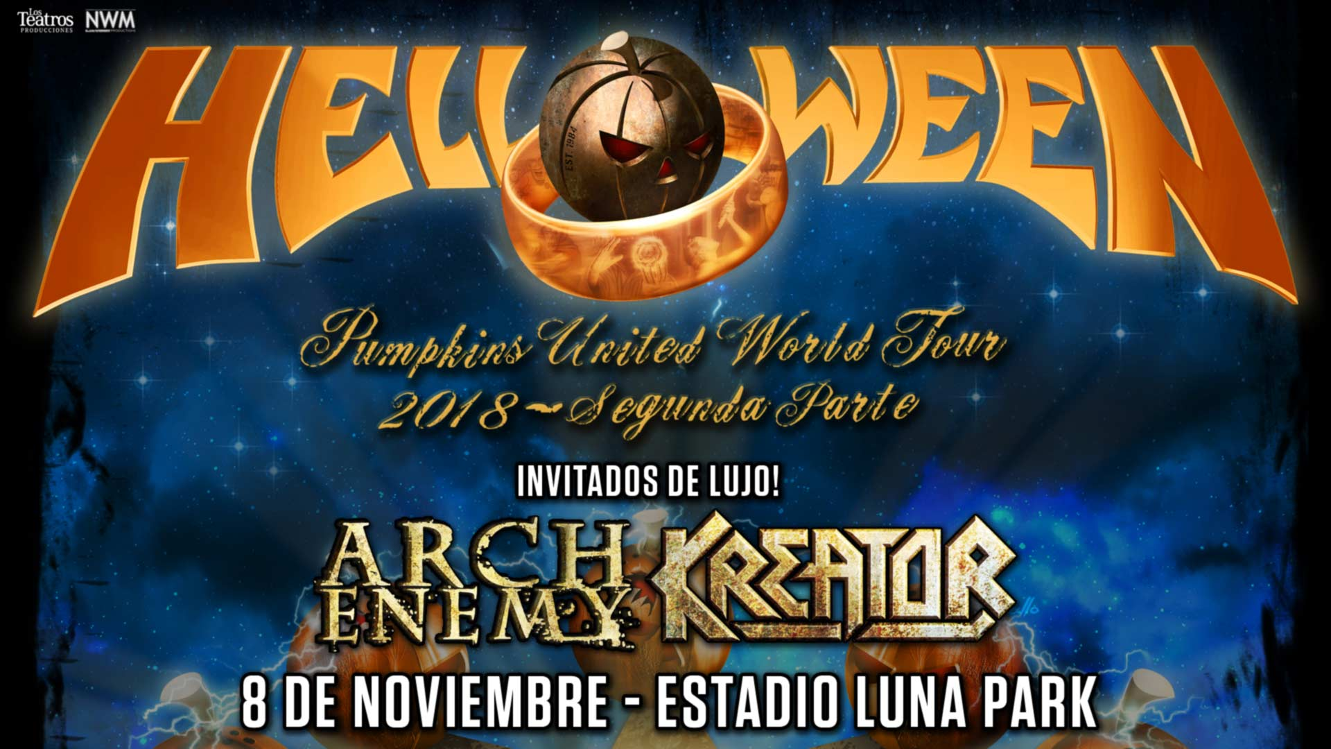 Helloween Arch Enemy Kreator Stadium Luna Park